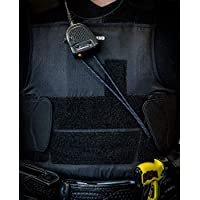 麦克风环 – 将便携式收音机麦克风保持在合适的位置,适用于警察/执法部门,薄蓝色线