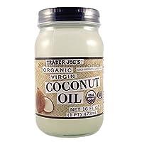 新款 Trader Joe's ( 16液量盎司)椰子认证有机特级初榨椰子油 Trader Joe's