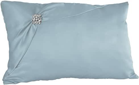Ivy Lane Design Chantilly 蕾丝护膝枕,象牙色 浅蓝色 S91076/LBL
