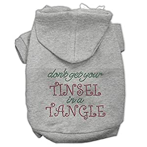 """Mirage Pet Products 12"""" Tinsel in a Tinsel in a Tangle 水钻连帽衫 灰色 中"""