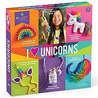"Craft-Tastic - I Love Unicorns 套装 - 工艺套装包括 6 个独角兽主题项目 Bilingual ""Multi"""