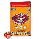 S.O.S. Rations 紧急食品评级生存标签 - 2 天包装不含麸质和非转*25 年保质期(24 个标签袋 - 草莓色)