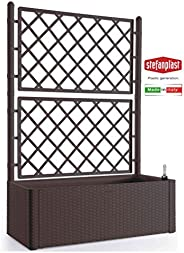 Stefanplast STF640 豪华花盒,带靠背,棕色