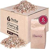 樱桃木屑用于吸*者 - 6 包 1 夸脱*熏木屑 - *熏木屑用于烧烤 - 电动吸*机 - 环保包装 - 烧烤樱桃