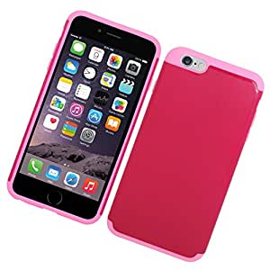 Eagle Cell Hybrid Protective Hard Case for Apple iPhone 6 Plus - Retail Packaging - Pink/Hot Pink