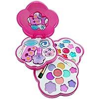 Liberty 进口 小女孩化妆品玩具套装 — 可洗* — 公主真化妆包带盒 — 儿童理想礼物 经典 粉红色