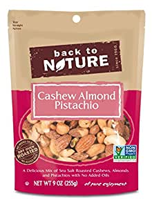 Back to Nature Trail Mix, Cashew Almond Pistachio, 9 Ounce (Pack of 9)