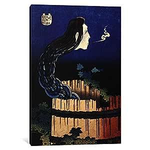 "iCanvasART 1 Piece The Ghost Story of Okiku (Sarayashiki), 1830 Canvas Print by Katsushika Hokusai, 40"" x 26""/1.5"" Depth"