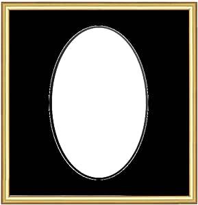 Framecraft 浴室相框,8 x 6 Pencil Gold (Blackcore_black Mt) 8x6 RMPNGLDO86BBC
