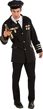 Rubie's Costume Co 男士 Heroes and Hombres, Pilot Costume Jacket With Shirtfront, Tie, and Hat