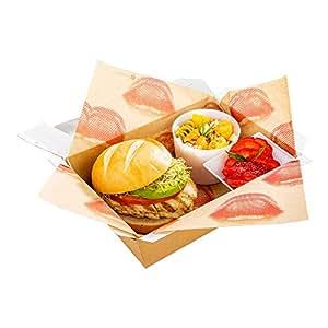 """防碎纸食品包装,篮衬,三明治包装,送纸纸,简体中文 - 12 英寸 x 12 英寸 - 500 克拉盒 - 餐馆用品 牛皮纸 12"""" x 12"""" RWA0369"""