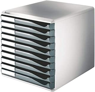 Leitz 10 A4 抽屉柜,收纳盒,外形套装 10 Drawer 深灰色