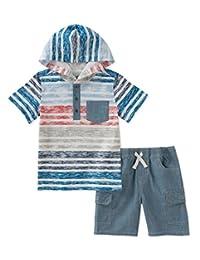 Kids Headquarters 男童 2 件套连帽短裤套装