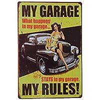 UNiQ Designs 男士洞穴车库主题 Uniq Designs My Garage My Rules Portrait - Yellow Background