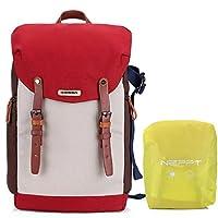 恋品 相机包 双肩 单反 内胆包佳能70d 700d 600d 摄像机背包 摄影包 (双肩相机背包 红色)