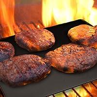 烧烤魔法 – 烧烤垫 – 可重复使用的不粘烧烤烤板 – 耐热烧烤垫 适用于燃气和木炭烧烤 – 非常适合户外烧烤和烹饪的烧烤配件和礼物 黑色 683203853057
