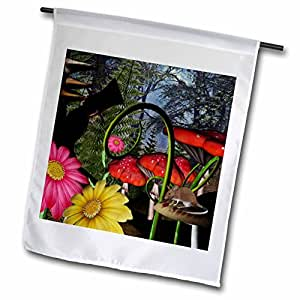 renderly Yours Fantasy–MAD hatter IN Shadow 梦游仙境–旗帜 12 x 18 inch Garden Flag