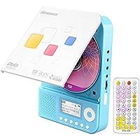 纽曼(Newsmy)DVD-L350 CD随身听 VCD播放器 英语学习机 复读机 DVD插卡U盘播放机 迷你音响蓝色粉色 (蓝色)
