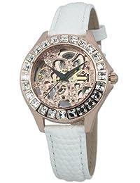 Burgmeister 伯格麦斯特 德国品牌 机械手表 女士腕表 镂空镶钻 BM520-306(亚马逊自营商品, 由供应商配送)