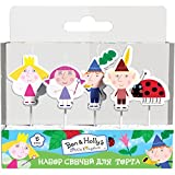 Ben & Holly's Little Kingdom 模制蜡烛套装(5 件)生日派对用品蛋糕杯蛋糕装饰装饰