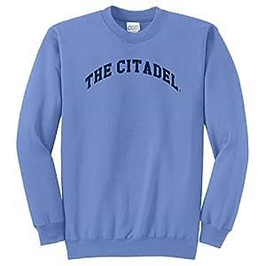 NCAA Citadel Bulldogs Arch 经典圆领运动衫,Carolina 蓝色,4XL 码