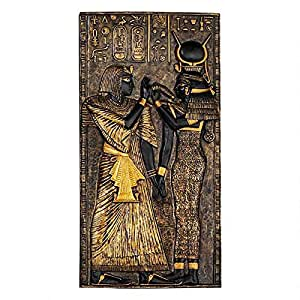 Design Toscano WU68176 埃及寺庙马牌匾 双色黑色和金色 WU68184