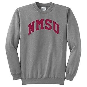 NCAA 新墨西哥州 Aggies Arch 经典圆领运动衫,麻灰色,4XL 码