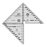 创意 GRIDS 多种颜色尺寸5.08cm 飞行 geese 45度和90Degree 三角 quilting 标尺模板 cgrmsfg4590