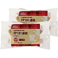 Kalita 咖啡滤纸 FP101过滤纸 棕色 1~2人用 100片×2袋套装 #1111