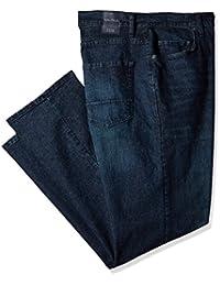 Nautica 男士高大 5 口袋宽松弹力牛仔裤