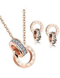 showfay 18?K 玫瑰金吊墜項鏈*從施華洛世奇不銹鋼女性首飾禮品