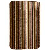 Dandy by William Armes, Ios Stripe Indoor Washable Rug, Brown, 80 x 50