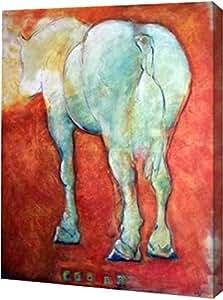"PrintArt GW-POD-37-KHA1030-30.48x40.64 cm ""Horse Red""由 Kate Hoffman 创作画廊装裱艺术微喷油画艺术印刷品,30.48 cm x 40.64 cm"