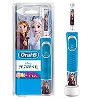 Oral-B 欧乐B 儿童电动牙刷 冰雪奇缘主题,带迪士尼贴纸,适用于3岁以上儿童,蓝色