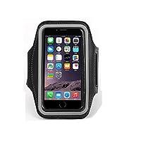 肯索亚运动手机套 适用苹果 iphone5 苹果5S 5C iphone4 4S旅游跑步健身手机腕包 臂包 (苹果5 苹果4 小号, 黑色)
