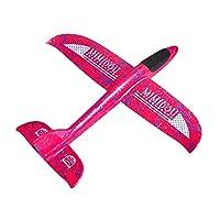 MIMIDOU 出品全新气动滑翔飞机 2 飞行模式风格泡沫飞机飞翔泡沫飞机户外运动飞行玩具可作为礼物 M Red 35cm