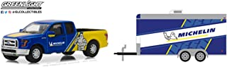 GREENLIGHT 164 HITCH & TOW 13 2016福特 F150 enclosed 汽车 MICHELIN 轮胎赛车