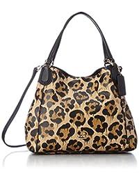 COACH Women's Leopard Ocelot Print Edie 28 LI/Wild Beast Cross Body
