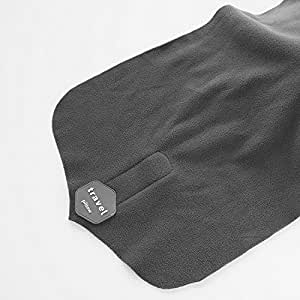 VinTrVl Travel Pillow (Small) Soft, Ergonomic Neck & Head Support | Lightweight, Compact, Flexible | Upright Sleep and Rest Comfort | Airplane, Car, Vehicle Use (Grey)