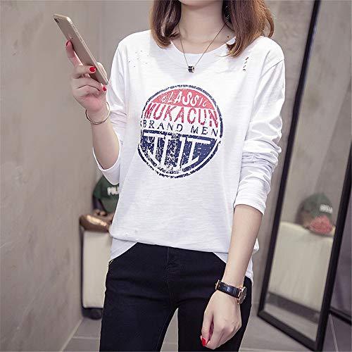 D  -  BuLunダンBulun秋と冬の新しいオプションのラウンドネックシンプルな女性の長袖Tシャツは野生の竹のコットンシャツの秋と冬のモデルカジュアル長袖女性のシャツK J  -  Gの薄い韓国語版