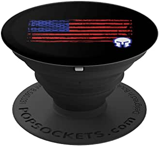 美国国旗斯巴达头盔爱国主义 - PopSockets 手机和平板电脑抓握支架260027  黑色