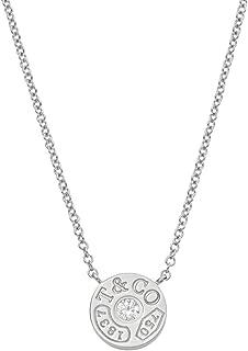 [蒂芙尼] TIFFANY 钻石 18KWG 白金 1837 圆形 吊坠 项链 33285973