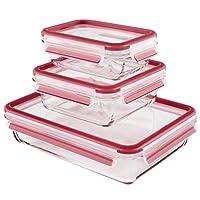 EMSA爱慕莎易鲜系列玻璃保鲜盒 514168 长方形0.5L/0.9L/2.0L礼盒装 德国原装进口