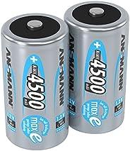 Ansmann 5035352Max E C 4500 mAh 2 件装气泡,低放电可充电电池5035352 2 件装