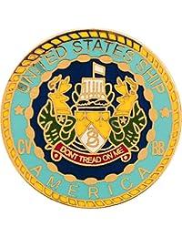 美国* USN USS 美国字体和标志 2.54 厘米翻领别针