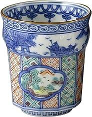 常見(Aito) 茶杯 色畫 木瓜山水 小 京燒 清水燒 昭阿彌窯 茶杯 UCT698-02