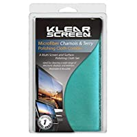 Klear Screen Combo Cloth Pack Includes Both Terry and Chamois Style Microfiber Cloths (KS-MK-COM)