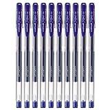 uni 三菱 UM-100 中性笔 0.5mm (笔芯蓝色) 10支装 耐水墨液 碳化钨滚珠