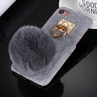 alsatek 保护壳塑料用于 iPhone 7 主题灰色门钥匙流苏集成的