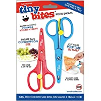 Tiny bites 婴幼儿食物剪 红色+蓝色 2把装